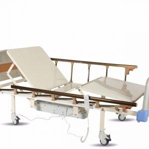 K-22A Abs Başlık Alümiyum Korkuluk İki Motorlu Hasta Karyolası